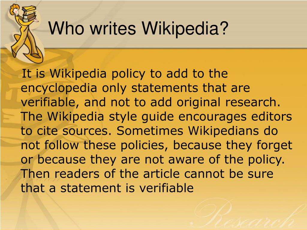 Who writes Wikipedia?