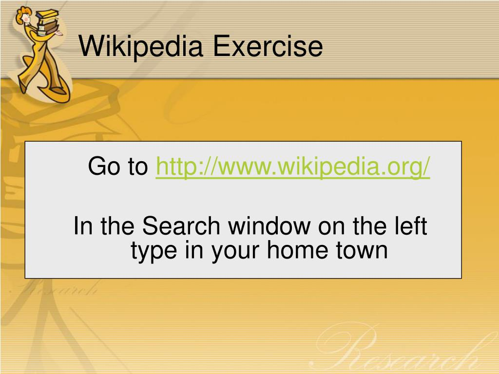 Wikipedia Exercise