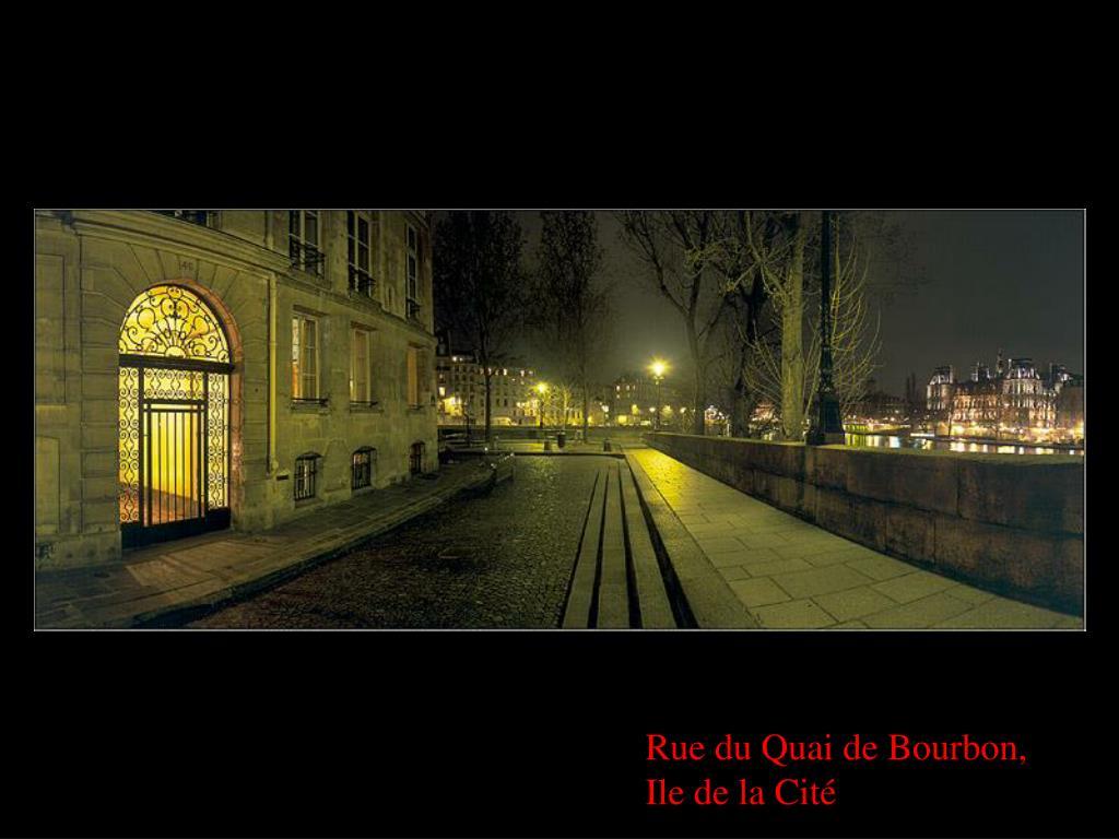Rue du Quai de Bourbon,