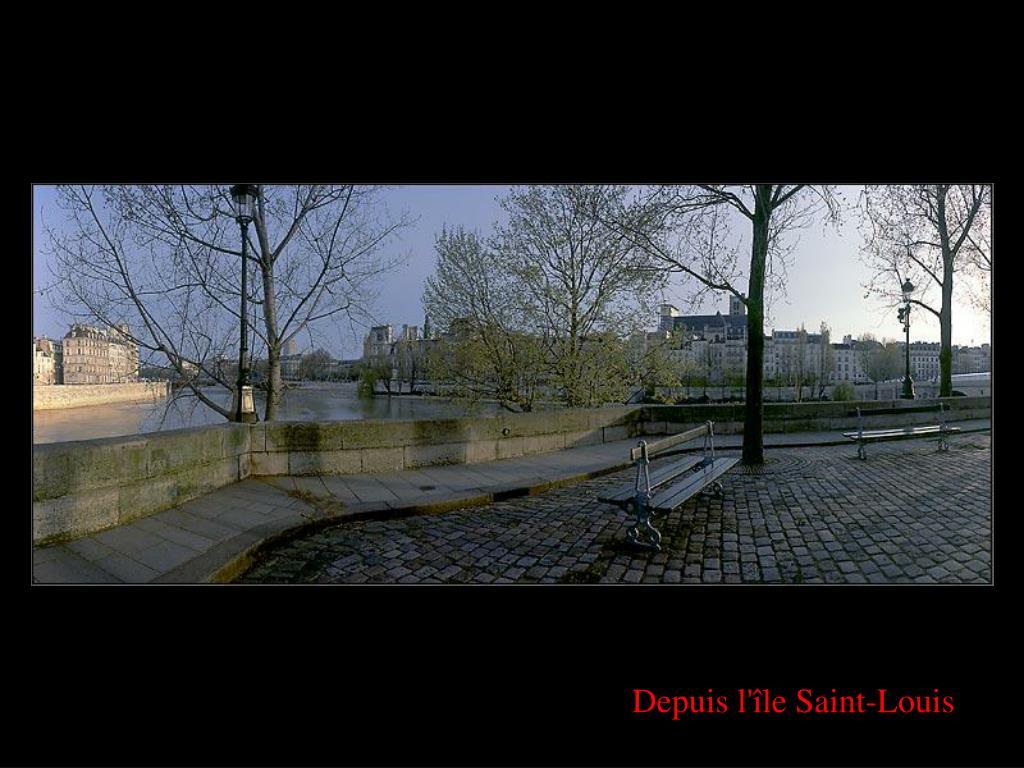Depuis l'île Saint-Louis