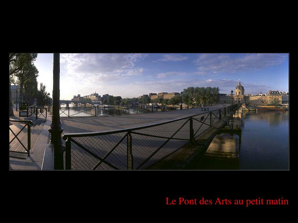 Le Pont des Arts au petit matin