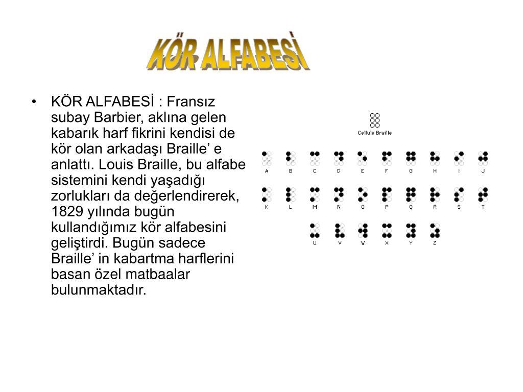 KÖR ALFABESİ