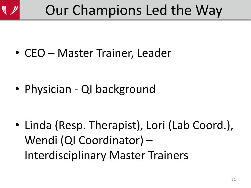 Our Champions Led the Way