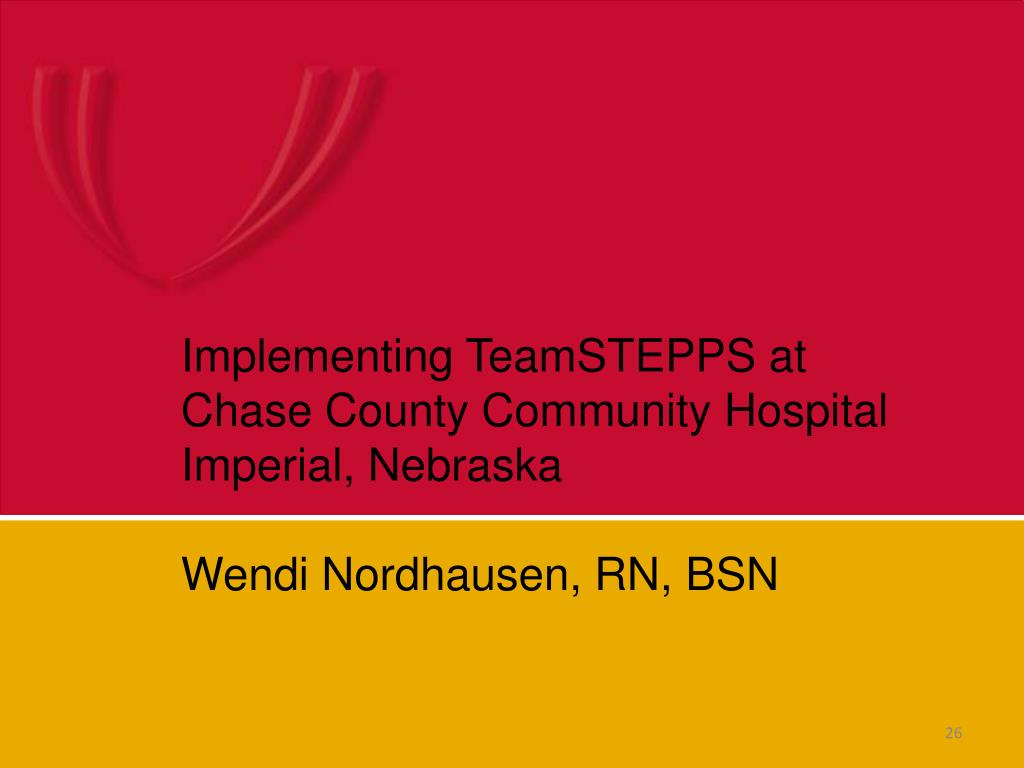 Implementing TeamSTEPPS at