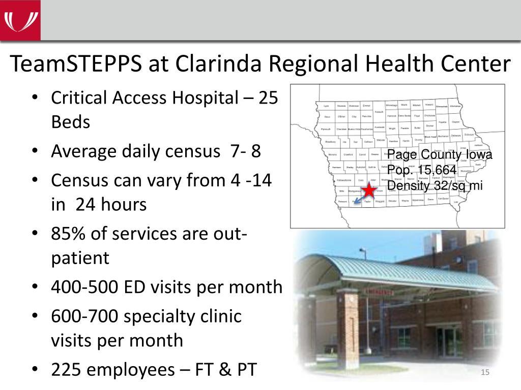 TeamSTEPPS at Clarinda Regional Health Center