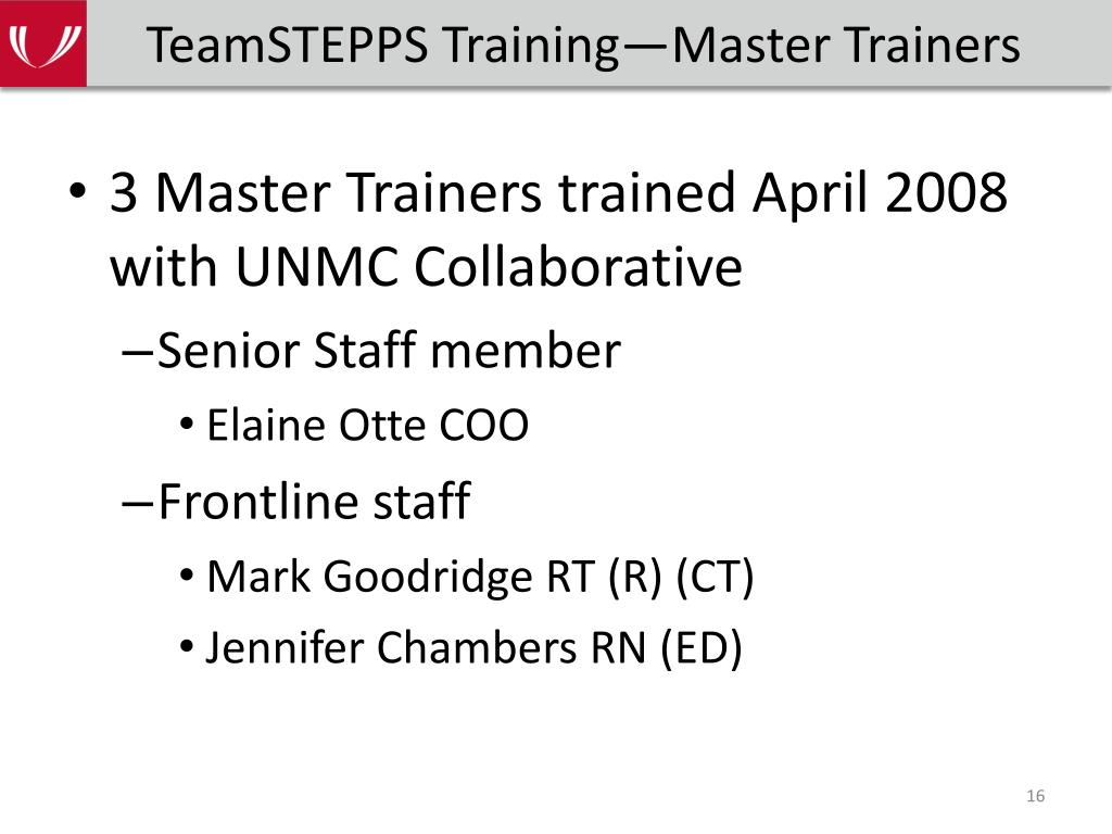 TeamSTEPPS Training—Master Trainers