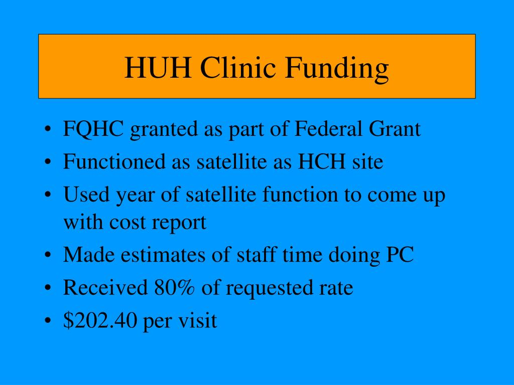 HUH Clinic Funding