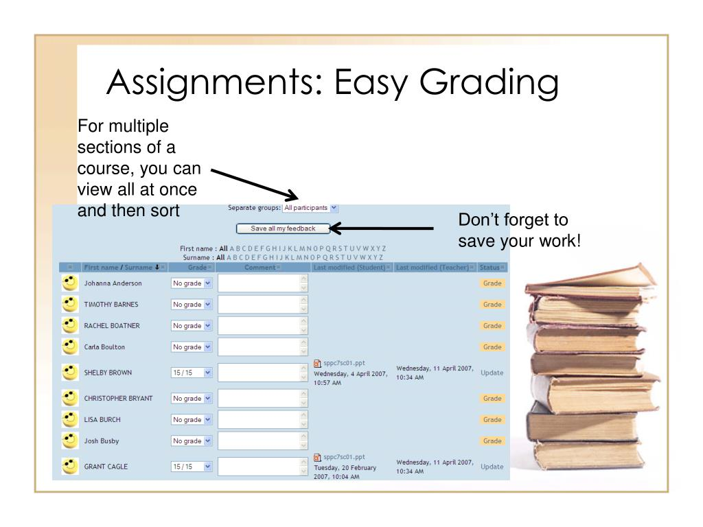 Assignments: Easy Grading