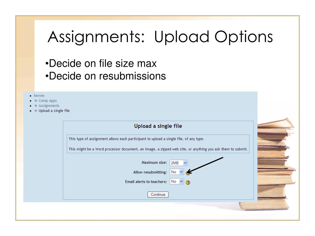 Assignments:  Upload Options