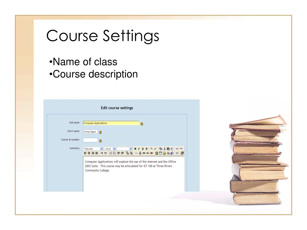 Course Settings