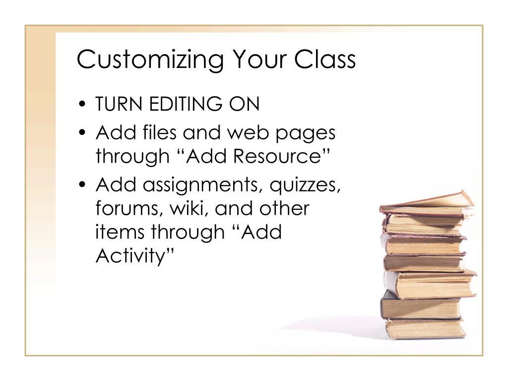 Customizing Your Class