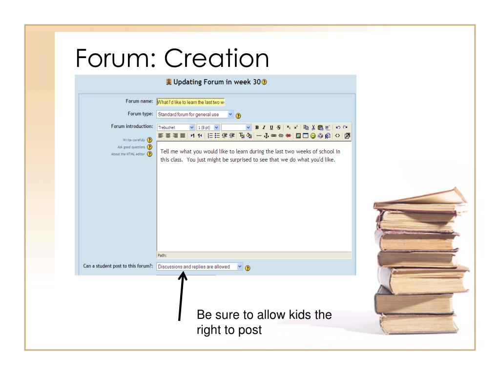 Forum: Creation
