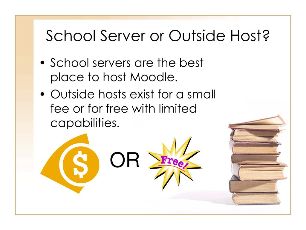 School Server or Outside Host?