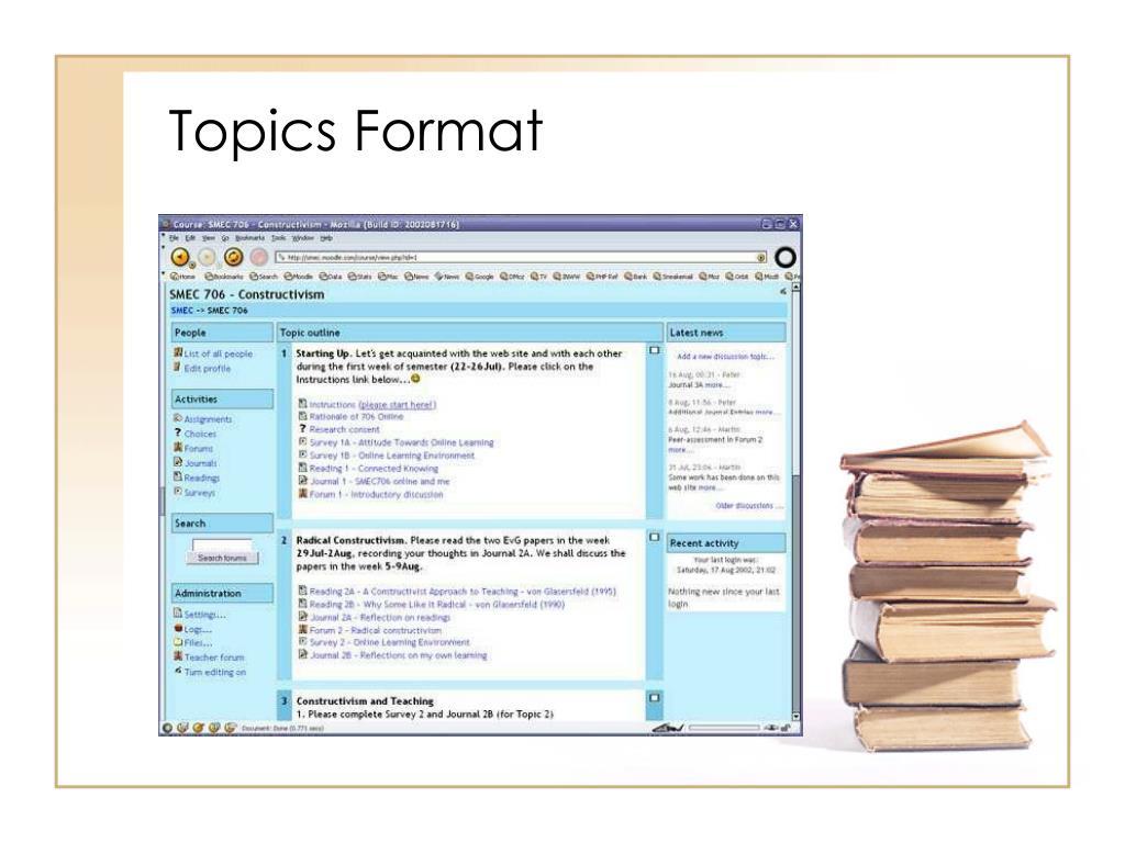 Topics Format