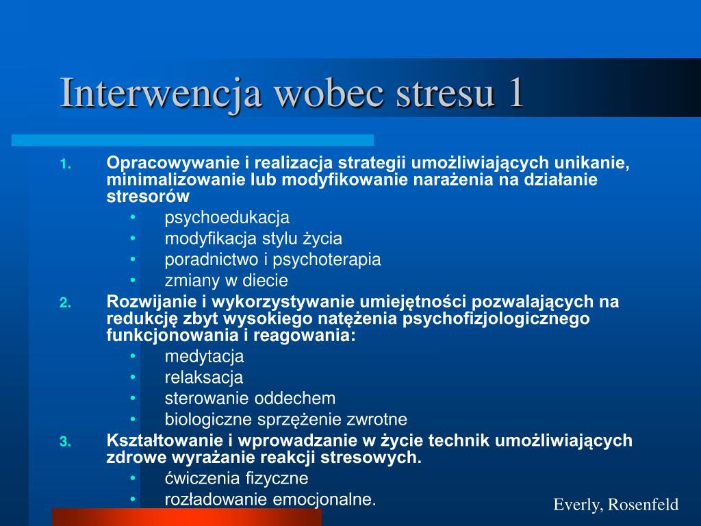 Interwencja wobec stresu 1