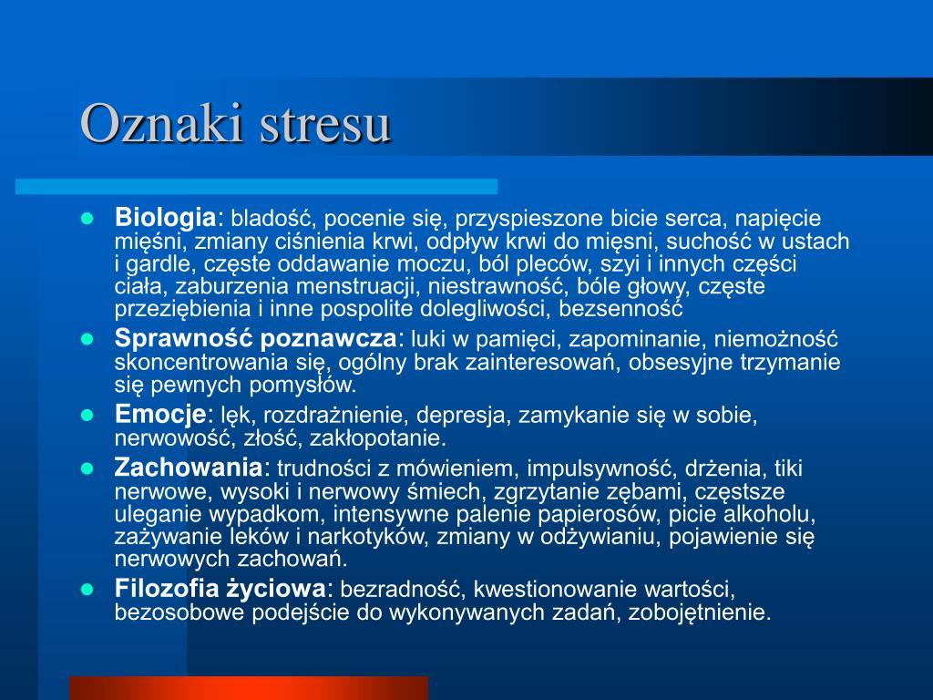 Oznaki stresu