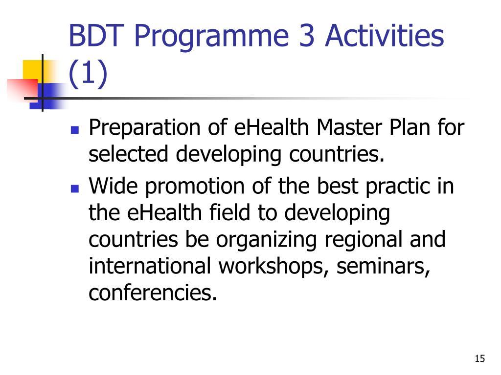 BDT Programme 3 Activities (1)