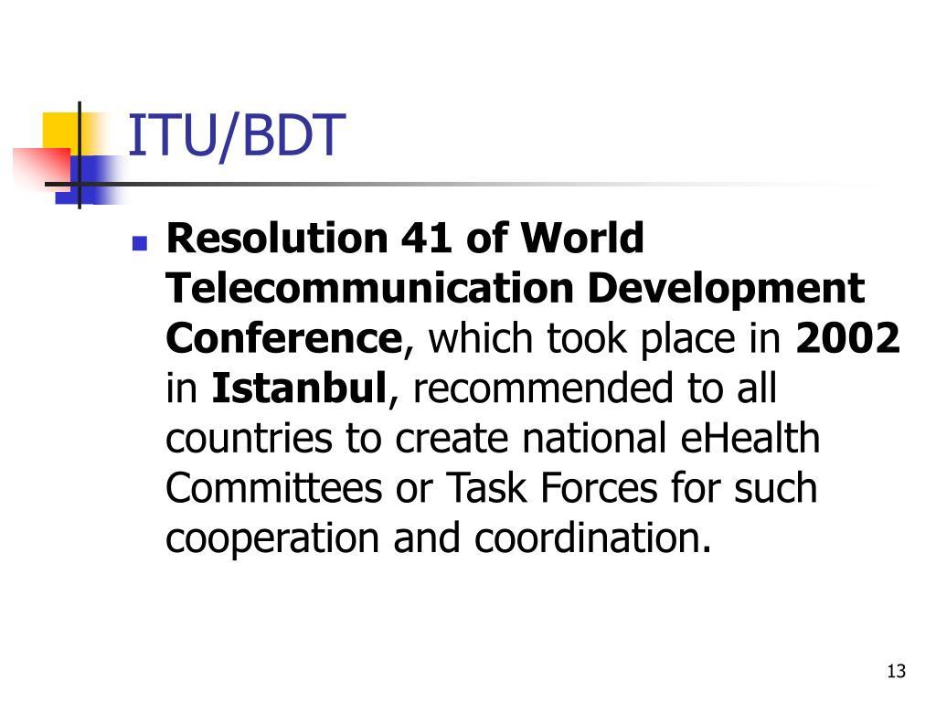 ITU/BDT