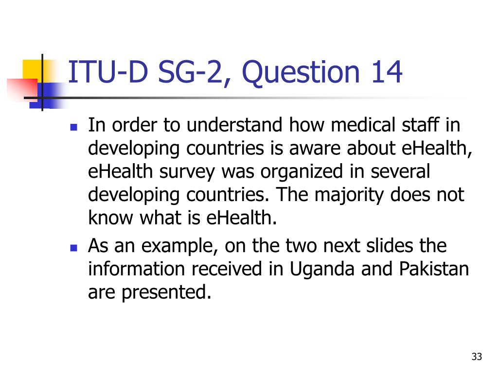 ITU-D SG-2, Question 14