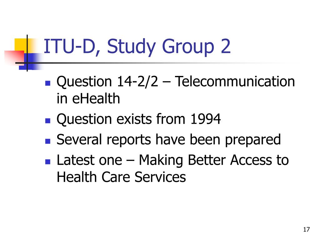 ITU-D, Study Group 2