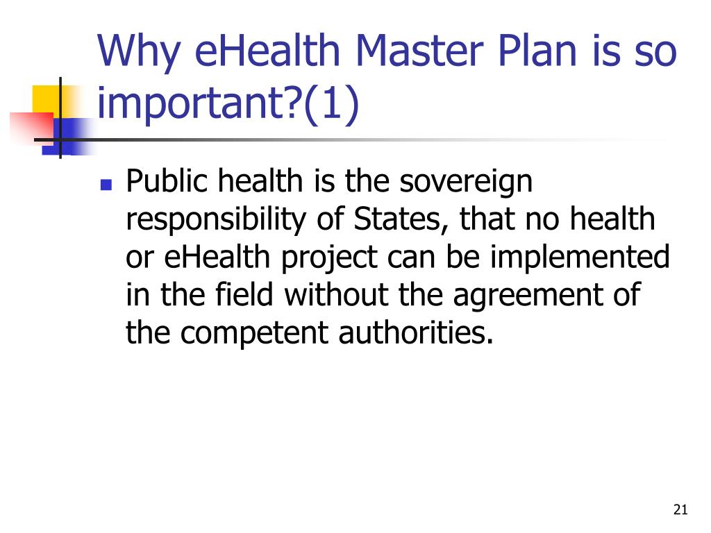 Why eHealth Master Plan is so important?(1)