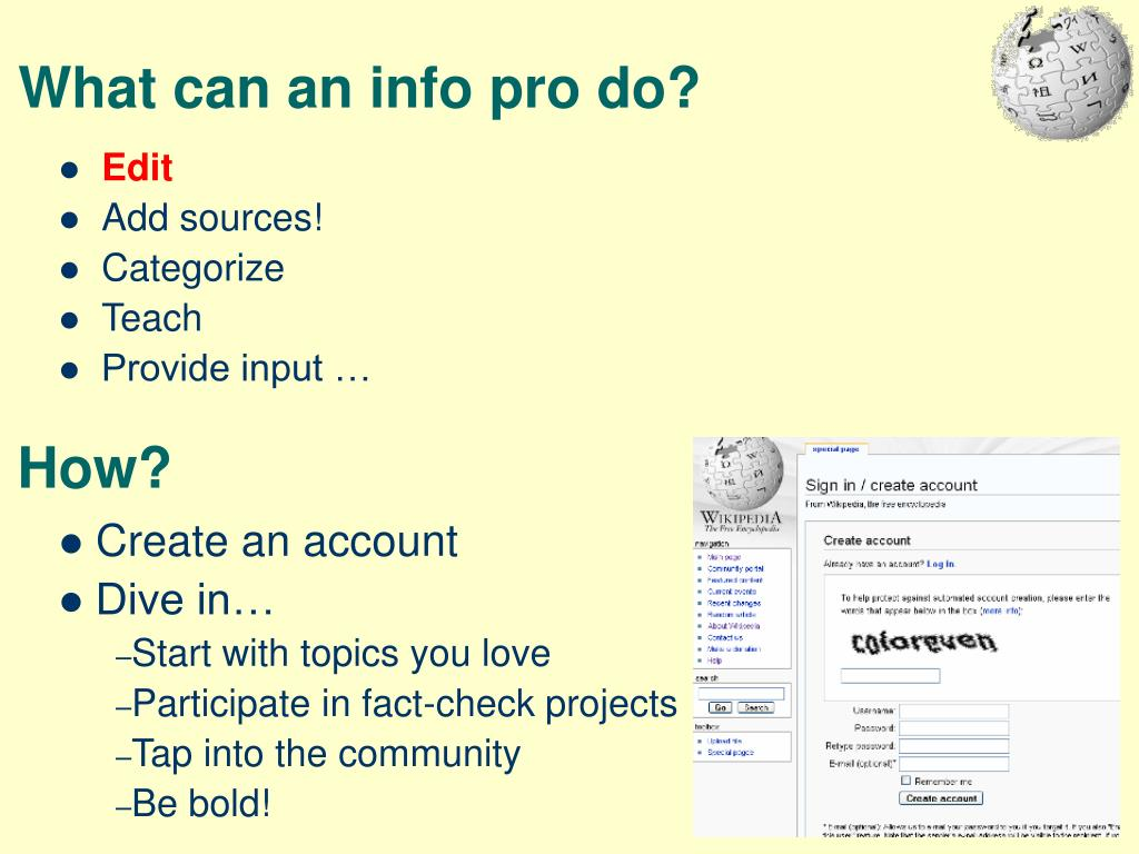 What can an info pro do?