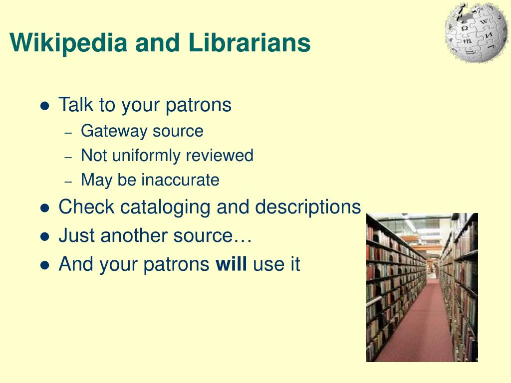 Wikipedia and Librarians