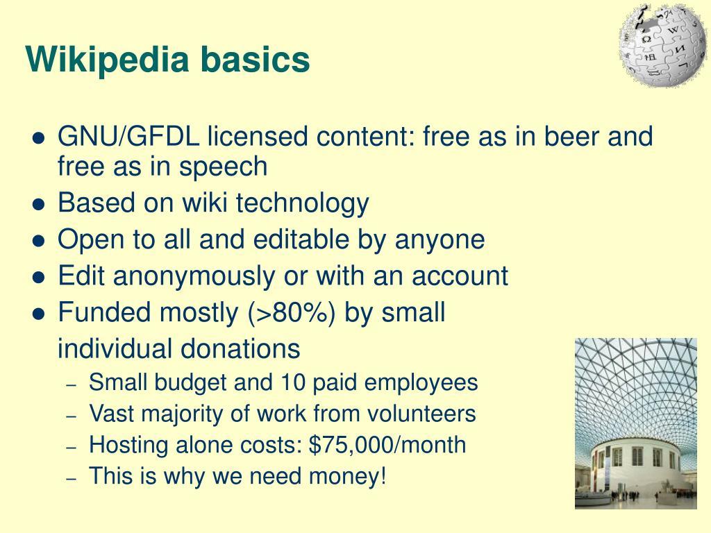 Wikipedia basics