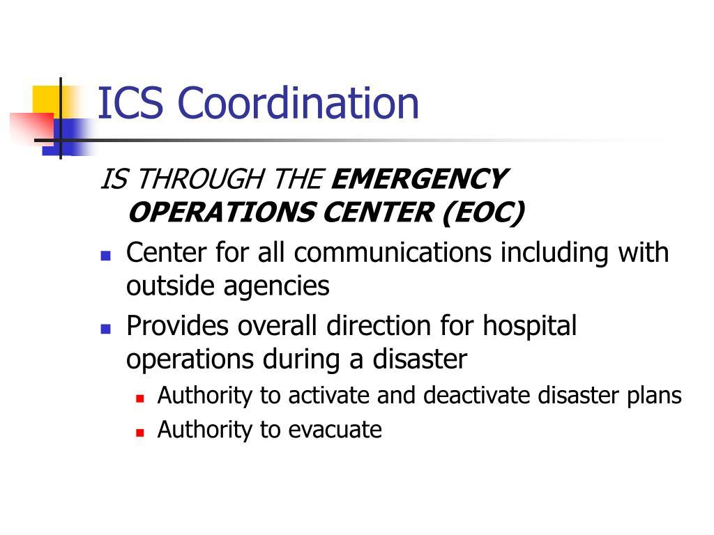 ICS Coordination