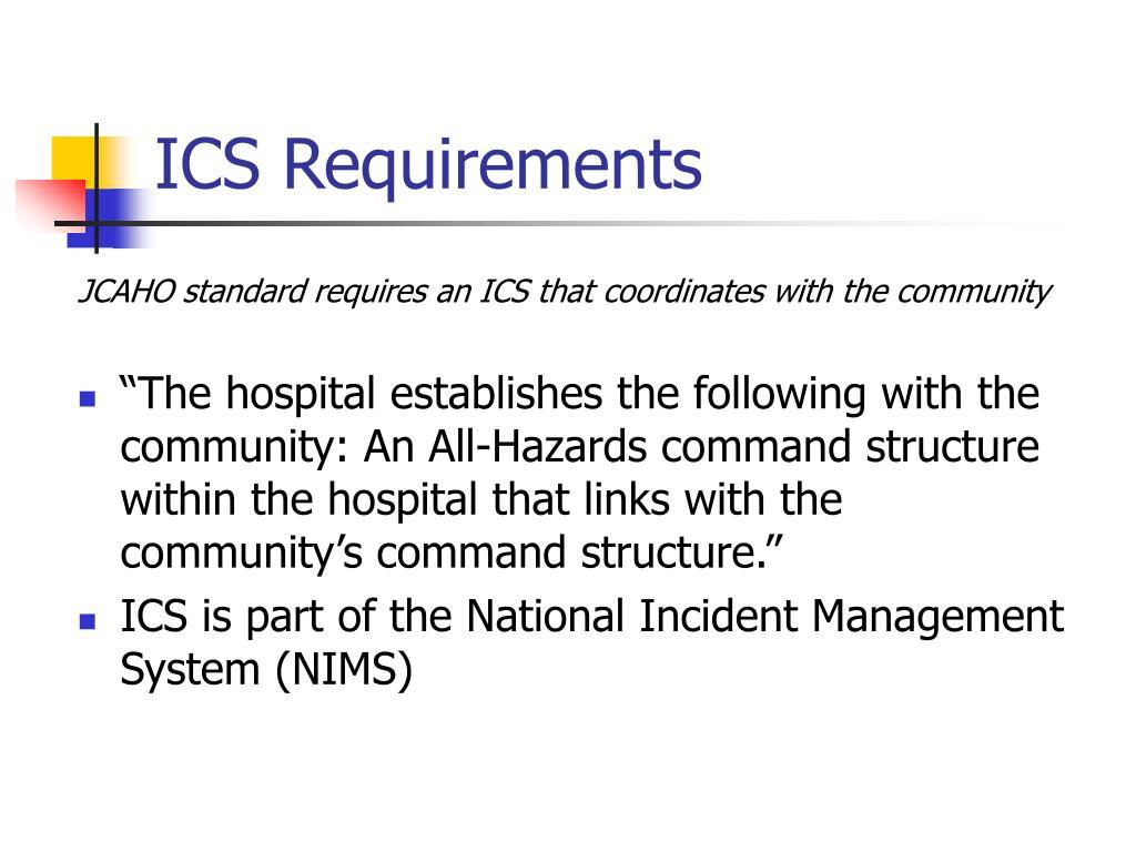 ICS Requirements