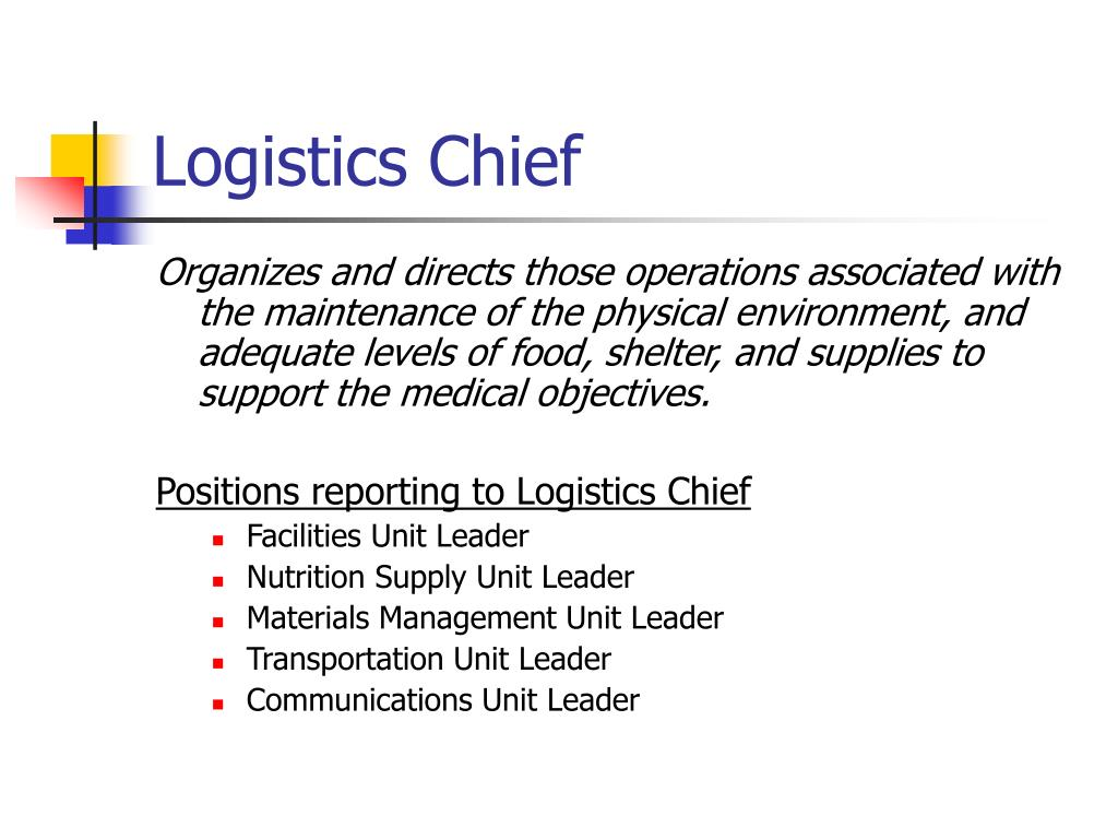Logistics Chief