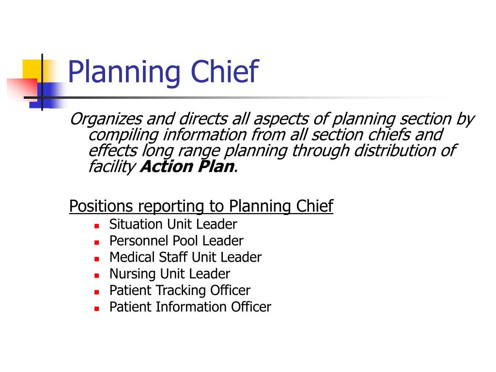 Planning Chief