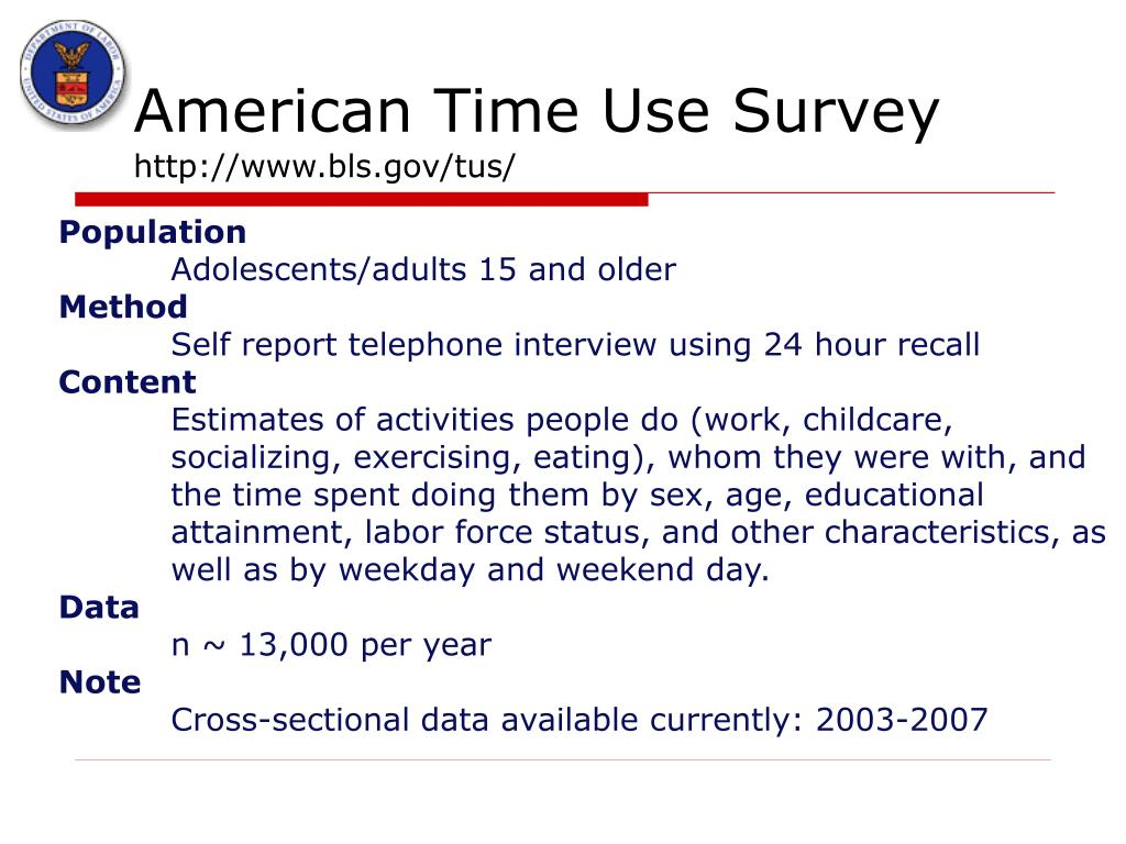 American Time Use Survey