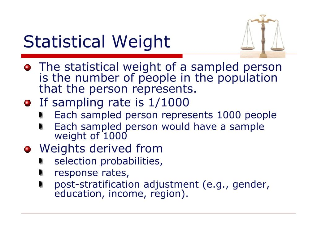 Statistical Weight
