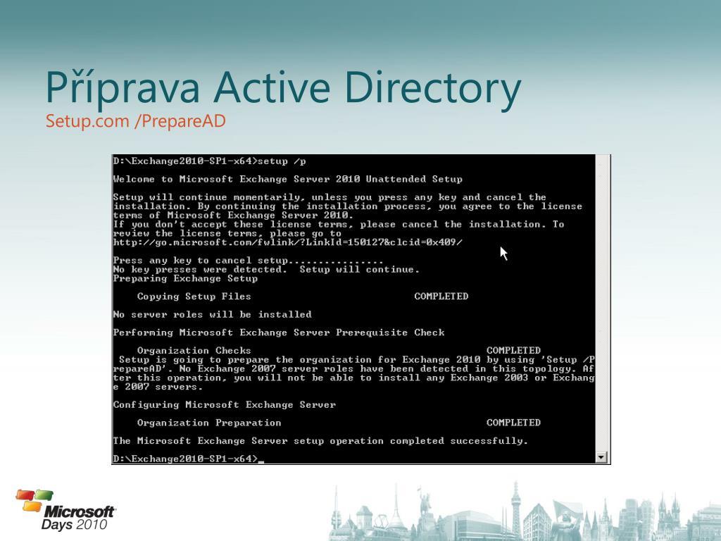 Příprava Active Directory