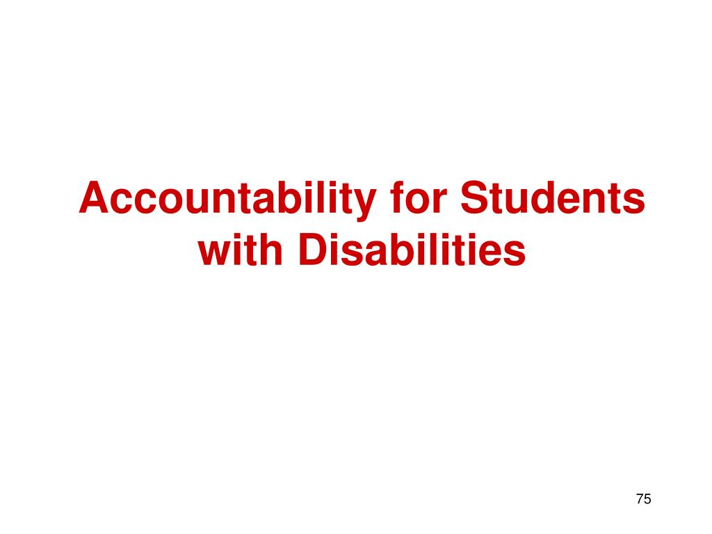 Accountability for Students with Disabilities