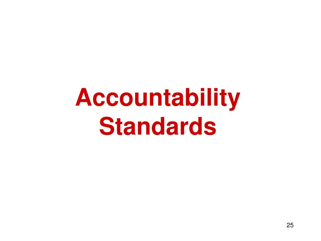 Accountability Standards