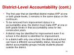 district level accountability cont