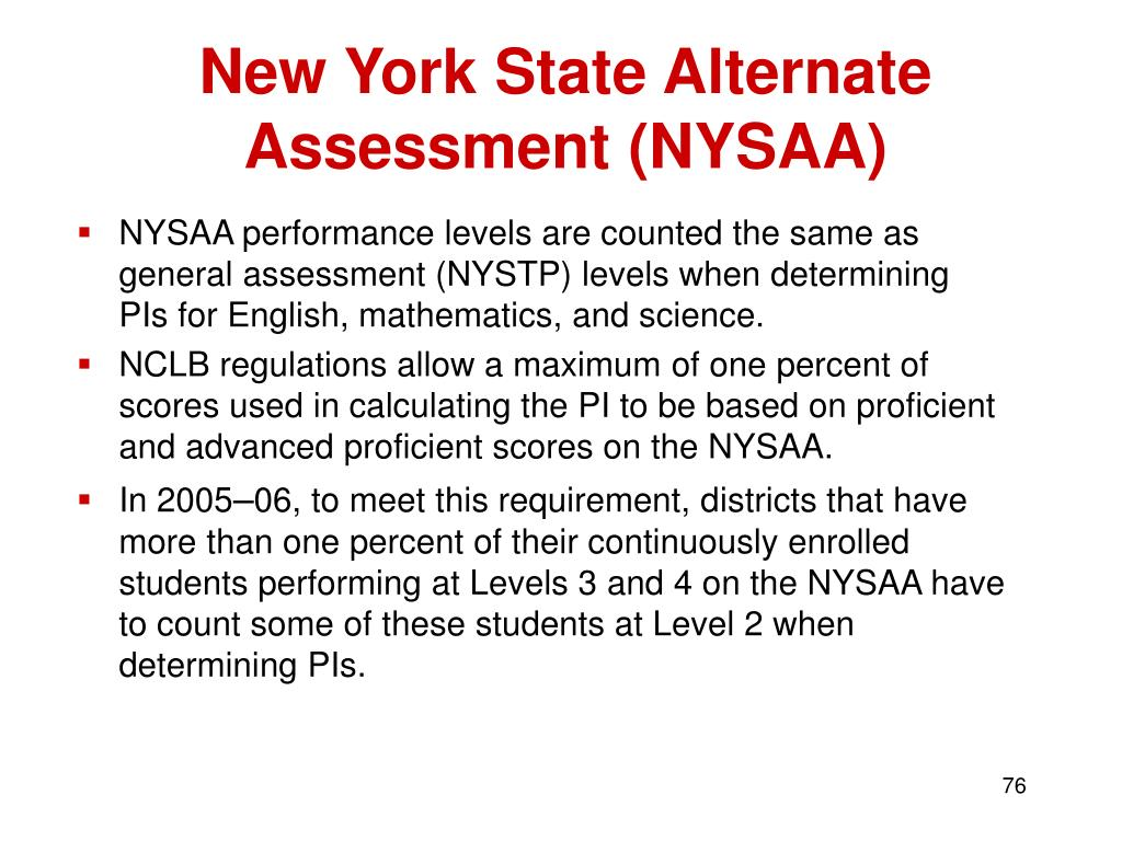 New York State Alternate Assessment (NYSAA)