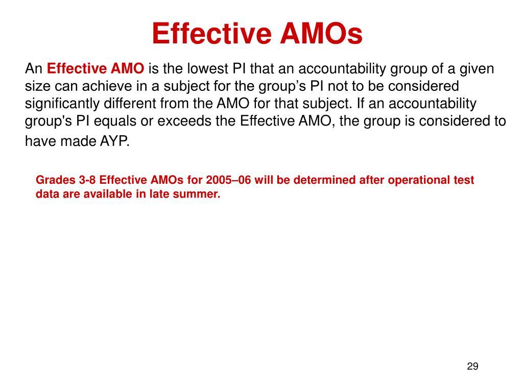 Effective AMOs