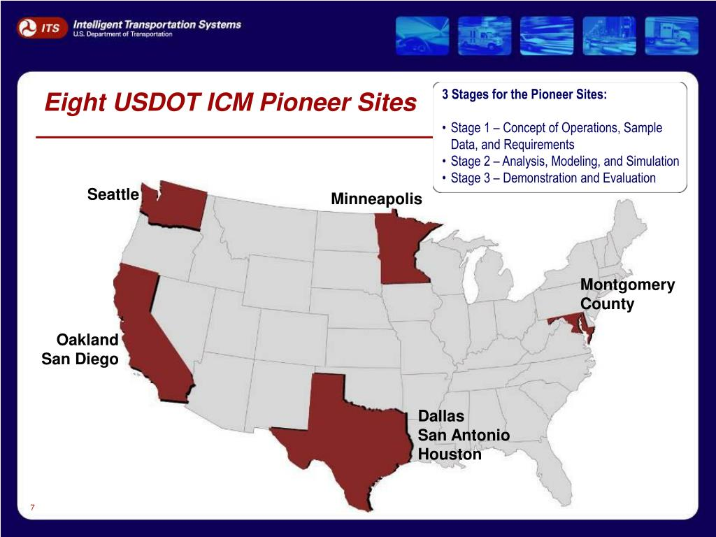 Eight USDOT ICM Pioneer Sites