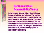 corporate social responsibility theory118