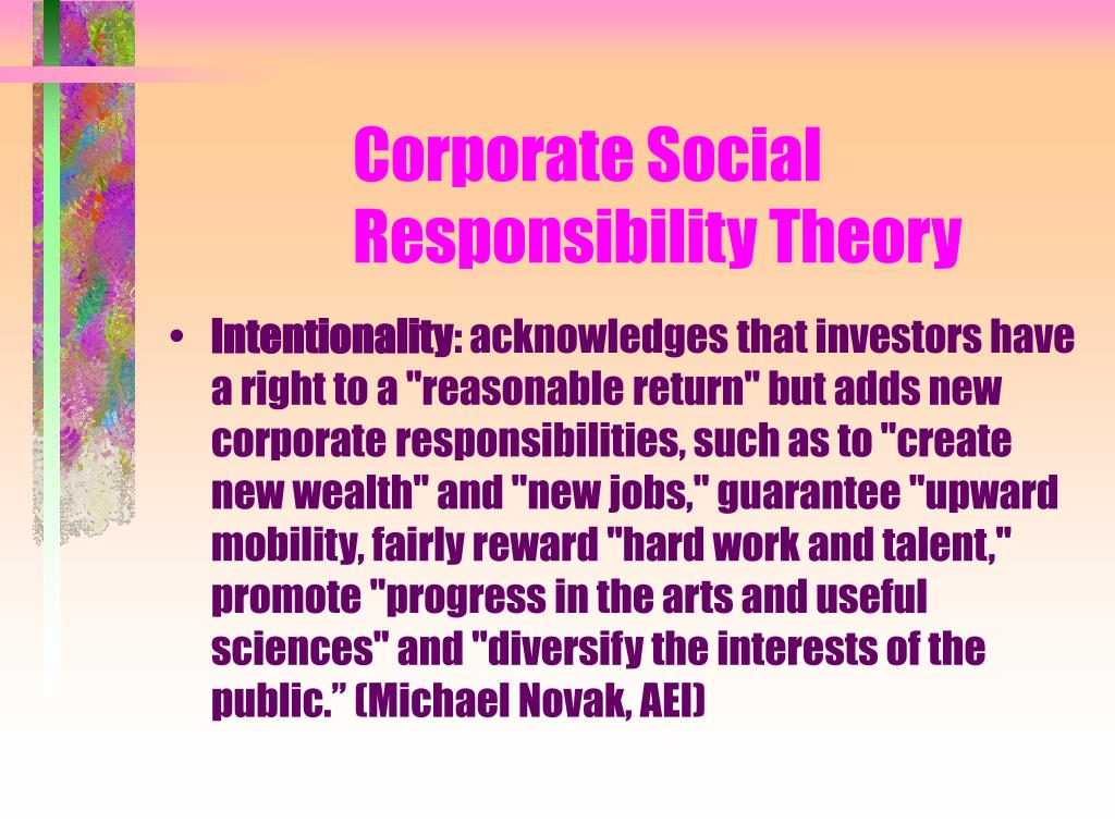 Corporate Social Responsibility Theory