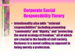corporate social responsibility theory121