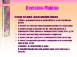 decision making8