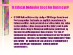 is ethical behavior good for business133
