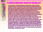 is ethical behavior good for business134