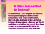 is ethical behavior good for business135
