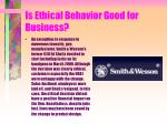 is ethical behavior good for business136