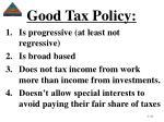 good tax policy